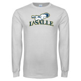White Long Sleeve T Shirt-La Salle