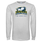 White Long Sleeve T Shirt-Swim & Dive