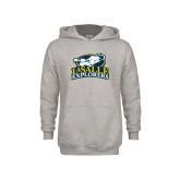Youth Grey Fleece Hood-Primary Mark