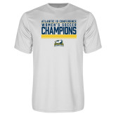 Performance White Tee-2017 Womens Soccer Champions Stacked