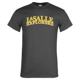 Charcoal T Shirt-La Salle Explorers