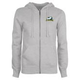 ENZA Ladies Grey Fleece Full Zip Hoodie-La Salle