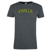Ladies Dark Heather T Shirt-La Salle