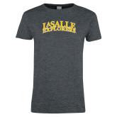 Ladies Dark Heather T Shirt-La Salle Explorers