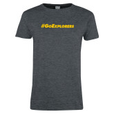 Ladies Dark Heather T Shirt-Go Explorers