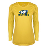 Ladies Syntrel Performance Gold Longsleeve Shirt-La Salle