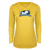 Ladies Syntrel Performance Gold Longsleeve Shirt-Explorers