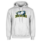 White Fleece Hoodie-La Salle