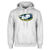 White Fleece Hoodie-Mascot
