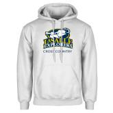 White Fleece Hoodie-Cross Country