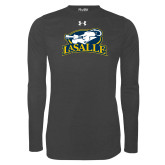 Under Armour Carbon Heather Long Sleeve Tech Tee-La Salle