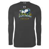 Under Armour Carbon Heather Long Sleeve Tech Tee-Soccer