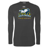 Under Armour Carbon Heather Long Sleeve Tech Tee-Field Hockey