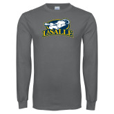 Charcoal Long Sleeve T Shirt-La Salle