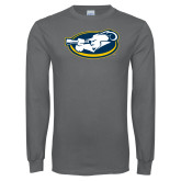 Charcoal Long Sleeve T Shirt-Mascot