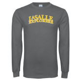 Charcoal Long Sleeve T Shirt-La Salle Explorers