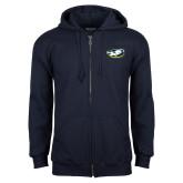 Navy Fleece Full Zip Hoodie-Mascot