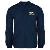 V Neck Navy Raglan Windshirt-Primary Mark