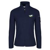 Columbia Ladies Full Zip Navy Fleece Jacket-Mascot