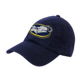 Navy Twill Unstructured Low Profile Hat-Mascot