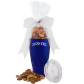 Deluxe Nut Medley Vacuum Insulated Blue Tumbler-La Salle  Engraved