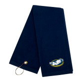 Navy Golf Towel-Mascot