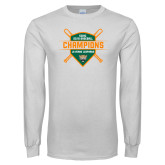 White Long Sleeve T Shirt-2018 SCIAC Baseball Champions