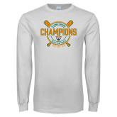 White Long Sleeve T Shirt-2018 SCIAC Softball Champions