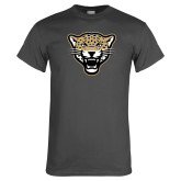 Charcoal T Shirt-Leopard Head