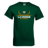 Dark Green T Shirt-Football Design