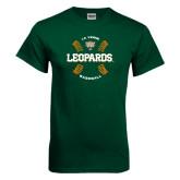 Dark Green T Shirt-Baseball Design