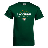 Dark Green T Shirt-Volleyball Design