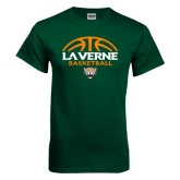 Dark Green T Shirt-Basketball Design