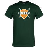 Dark Green T Shirt-2018 SCIAC Baseball Champions
