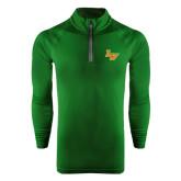 Under Armour Dark Green Tech 1/4 Zip Performance Shirt-LV