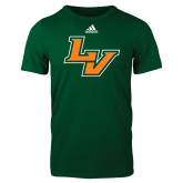 Adidas Dark Green Logo T Shirt-LV
