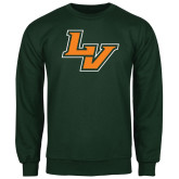 Dark Green Fleece Crew-LV