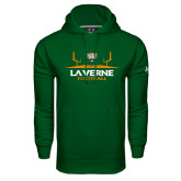 Under Armour Dark Green Performance Sweats Team Hoodie-Football Design
