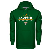 Under Armour Dark Green Performance Sweats Team Hoodie-Volleyball Design