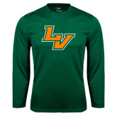Performance Dark Green Longsleeve Shirt-LV
