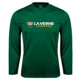 Syntrel Performance Dark Green Longsleeve Shirt-Horizontal Mark