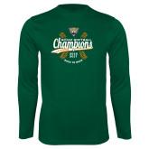 Syntrel Performance Dark Green Longsleeve Shirt-SCIAC Softball Champions