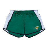 Ladies Dark Green/White Team Short-Official Logo