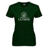 Ladies Dark Green T Shirt-125th Anniversary
