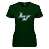 Ladies Dark Green T Shirt-LV