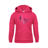 Youth Raspberry Fleece Hoodie-LV