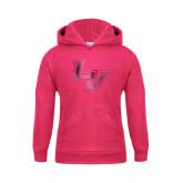 Youth Raspberry Fleece Hoodie-LV