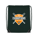 Dark Green Drawstring Backpack-2018 SCIAC Baseball Champions