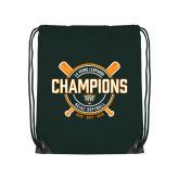 Dark Green Drawstring Backpack-2018 SCIAC Softball Champions