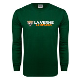 Dark Green Long Sleeve T Shirt-Horizontal Mark